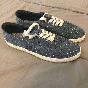 NWT-Polka Dot Denim Shoes